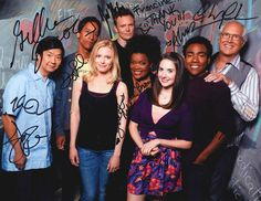 WOW! The cast of Community autographed a group photo for Francine Porter (Osmotics founder) when she visited the set in November. Many cast members are loyal users of Osmotics products, esp. the Blue Copper line :)
