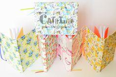 Cuadernos A5 80 hojas blancas. Encuadernados artesanalmente.