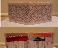 An easy DIY for any book lover!~Supplies~~ Book Pages (5 by 7 1/2 inches)~Clear Packing Tape~X-acto knife~Cutting Board