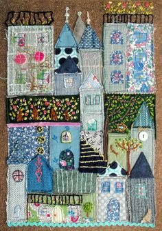 raw edge appliqued fairy tale in blue...