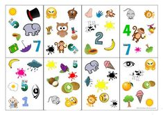 Easy Spot-It cards for kids - English ESL Powerpoints Kids English, Arabic Language, Teaching Jobs, Kids Cards, Esl, Vocabulary, Board Games, Kids Rugs, Words