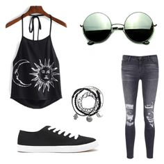 """""""Untitled #42"""" by elisha-m-ronald on Polyvore featuring J Brand, Forever 21 and Revo"""