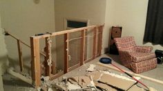 Drywall off the old knee walls