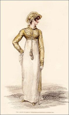 """Friday fashion print: """"Angouleme Hat and Spencer"""" from La Belle Assemblée, May 1814"""