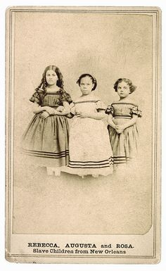 NEW ORLEANS  1863  SLAVE CHILDREN