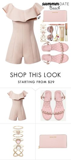 """Summer date"" by simona-altobelli ❤ liked on Polyvore featuring Lauren Conrad, Accessorize, Michael Kors, beach, Sheinside, polyvorecontest, summerdate and shein"