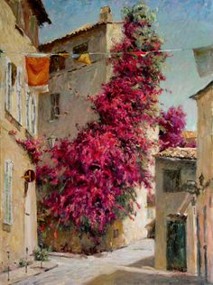 slices of life from Italy by Leonard Wren, American impressionist