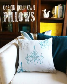 Make // Design a Pillow with Tulip For Your Home