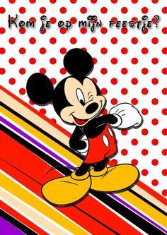 Uitnodiging Mickey Mouse (Kaartland wenskaarten)