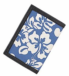 Buy Hawaiian White Floral with Blue Print Wallet from the Hawaiian Floral Print Wallets Collection!