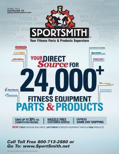 Sportsmith, Fitness Equipment Parts & Products Superstore! We are dedicated to helping you maintain your fitness equipment as cost-effectively as possible. We offer of quality parts for cardio and strength equipment. Reduce Weight, How To Lose Weight Fast, No Equipment Workout, Fitness Equipment, You Fitness, Health Fitness, Catalog Cover, Marketing Materials, Easy Weight Loss