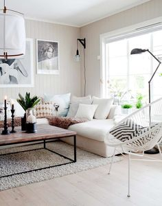 Having small living room can be one of all your problem about decoration home. To solve that, you will create the illusion of a larger space and painting your small living room with bright colors c… Living Room Stands, Home Living Room, Apartment Living, Living Room Decor, Living Spaces, Apartment Layout, Cozy Apartment, Apartment Design, Minimal Apartment