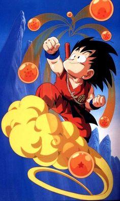 Son Goku on his nimbus