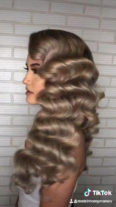 Curls For Long Hair, Easy Hairstyles For Long Hair, Bridal Hair Updo, Wedding Hair And Makeup, Hollywood Glam Hair, Updo Curls, Quince Hairstyles, Edgy Short Hair, Hair Up Styles