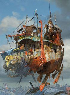 As naves fantásticas de Ian McQuee | THECAB - The Concept Art Blog