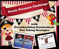 Ahoy there Mateys! Avast all ye pirates who are about to start standardized testing mayhem! Landlubbers and pirates alike will enjoy playing this Smart board game, Pirate Treasure Challenge! Get your students onboard for standardized testing by playing this game reviewing common test taking strategies.