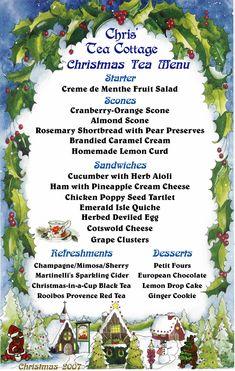 high tea menu - Google Search