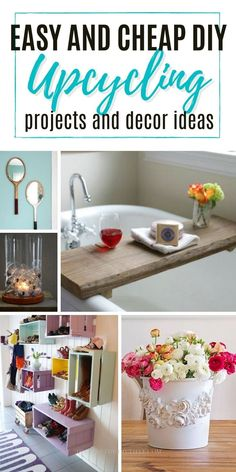 If you're looking for some cool DIY upcycling ideas, then check out these fabulous DIY upcycling ideas and projects that are easy to make at home. From simple decorative upcycling crafts like vases and wall decor all the way down to useful items such as furniture and garden accessories - this list has it covered! Old Candles, Candle Jars, Easy Diy Upcycling, Paint Stirrers, Paint Stir Sticks, Old Picture Frames, Concrete Stone, Diy Fall Wreath, Upcycled Crafts