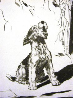 Diana Thorne Vintage Dog Print   1936  FOX by AllThingsBrooklyn