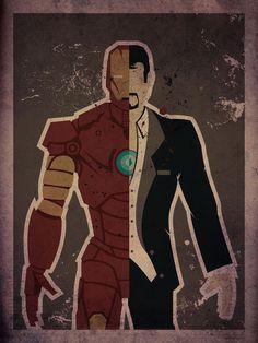 Danny Haas Crafts Magnificent 'Star Wars' and Superhero Prints [Art] Iron Man and Tony Stark