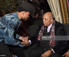 Chance the Rapper and producer Quincy Jones attends GQ and Chance The Rapper Celebrate the Grammys in Partnership with YouTube at Chateau Marmont on February 12, 2017 in Los Angeles, California.