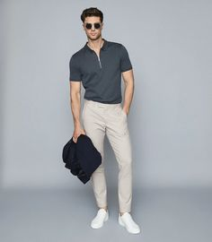 Stylish Mens Outfits, Summer Fashion Outfits, Fashion Pants, Style Casual, Men Casual, Smart Casual Menswear, Polo Shirt Outfits, Formal Men Outfit, Designer Suits For Men