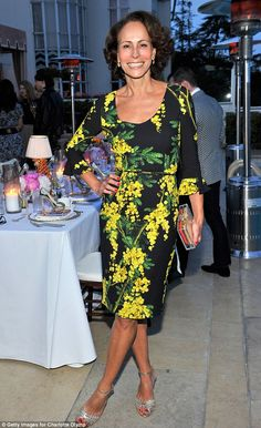 Showing her support: Fashion designer Charlotte Olympia Dellal's mother Andrea Dellal was also in tow