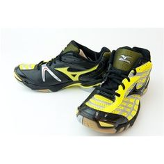 possible new vball shoes <3 Mizuno Lightning 8 Black/Yellow