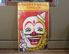 Clown Face - Robert Bros. Circus Poster