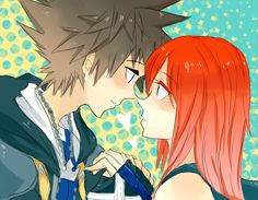 Kingdom Hearts : Sora+Kairi by ~Kite-Mitiko on deviantART