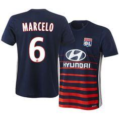 17-18 Olympique Lyonnais Jersey Shirt marcelo Away Top