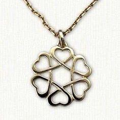 Celtic Open Heart Knot  Pendant