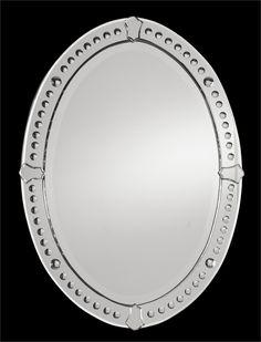 Uttermost Graziano Frameless Oval Mirror 34h x 25w  1ST FLOOR BATH