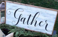 Extra Large Framed Gather Sign