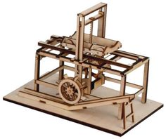 Revell Leonardo Da Vinci Hydraulic Saw Wooden Model Kit 0503 | Hobbies Scale: 1:15 Leonardo's study of the hydraulic saw, dates from his first years in Florence and is inserted in an age-old tradition of working machines. Height: 152mm Width: 128mm Length: 207mm