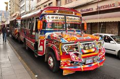 I thought the buses in Cochabamba were pretty ugly. I didn't fit too well either