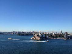 Sydney Opera House as seen from Sydney Harbour Bridge