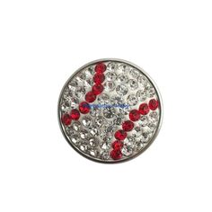 Baseball Bling Snap 18mm for Snap Jewelry (613)