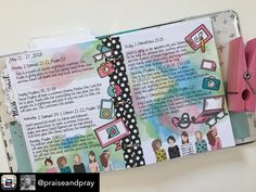 Another weekly wrap up in my praise binder. I had so much fun with these little techno face stickers from the shop this week. I always look forward to Mondays because a new week starts and I get to pick new elements LOL. #lot95designs #belovedsociety2018scripturereadingplan #praiseandpray  #biblejournal #prayerjournal #devotional #biblejournaling #biblejournal #bibleartjournal  #belovedsociety #illustratedfaith