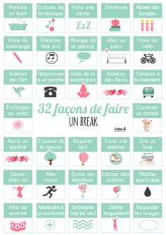 32 façons de faire un break #relax #medecinechinoise