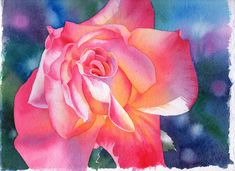How to Paint a Flower in Watercolour - Rose Demonstration