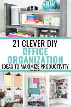 21 Clever DIY Office Organization Ideas To Maximize Productivity - DIY Home Decor