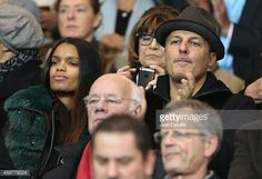 Jean Roch and his girlfriend Anais Monory attend the French Ligue 1 match between Paris SaintGermain FC and Olympique de Marseille OM at Parc des...