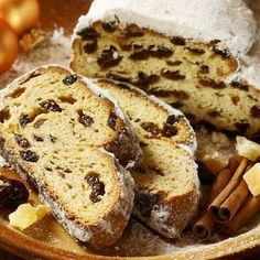 Christmas stollen, dried fruits, nuts and spices.