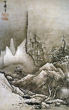 Sesshu Toyo, Winter Landscape 15c http://silverandexact.files.wordpress.com/2010/11/winter-landscape-sesshu-toyo-1486.jpg