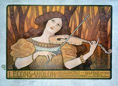 Lecons Music Violin Fine Art Print