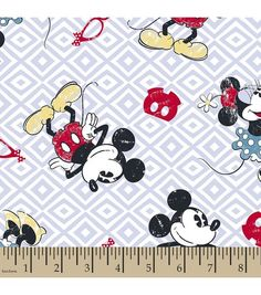 Disney® Mickey and Minnie Mouse Print Fabric