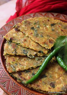 Jagruti's Cooking Odyssey: Oats, Juwar/Jowar & Methi Thepla - Oats, Shorghum & Fenugreek leaves paratha