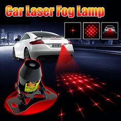 Red Car Universal Alarm Laser Fog Lamp Rear Anti-Collision Warning Tail Light K
