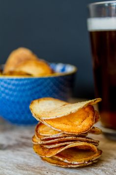 Homemade Potato Chips! http://msbelly.com/homemade-potato-chips/